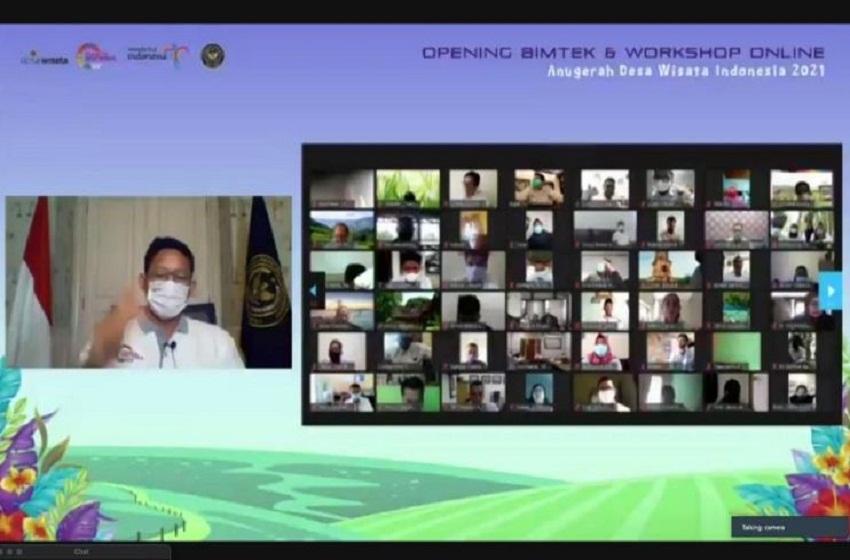 Menparekraf Buka Kegiatan Bimtek & Workshop Online ADWI 2021