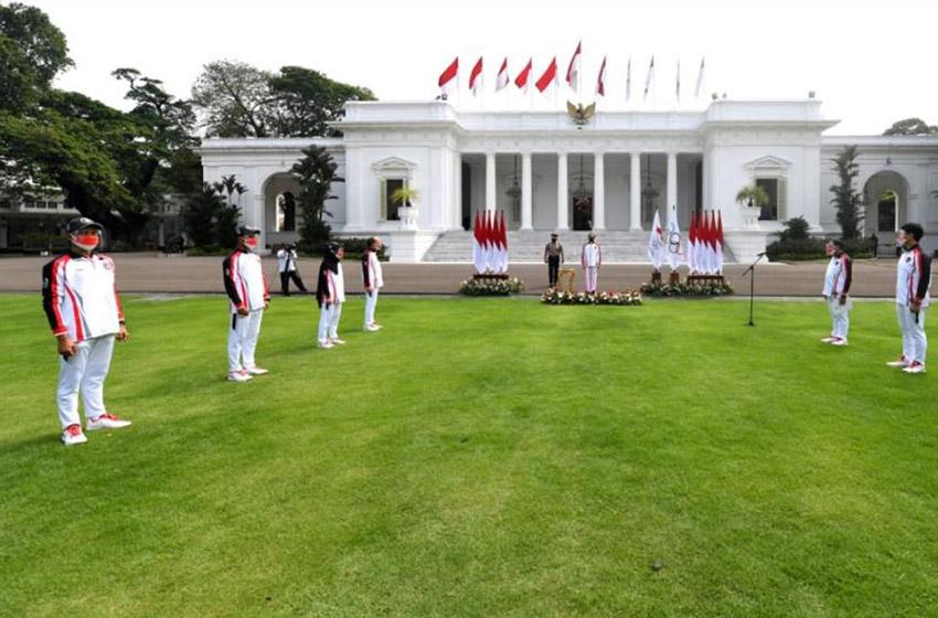 Presiden Jokowi Lepas Tim Indonesia ke Olimpiade Tokyo 2021