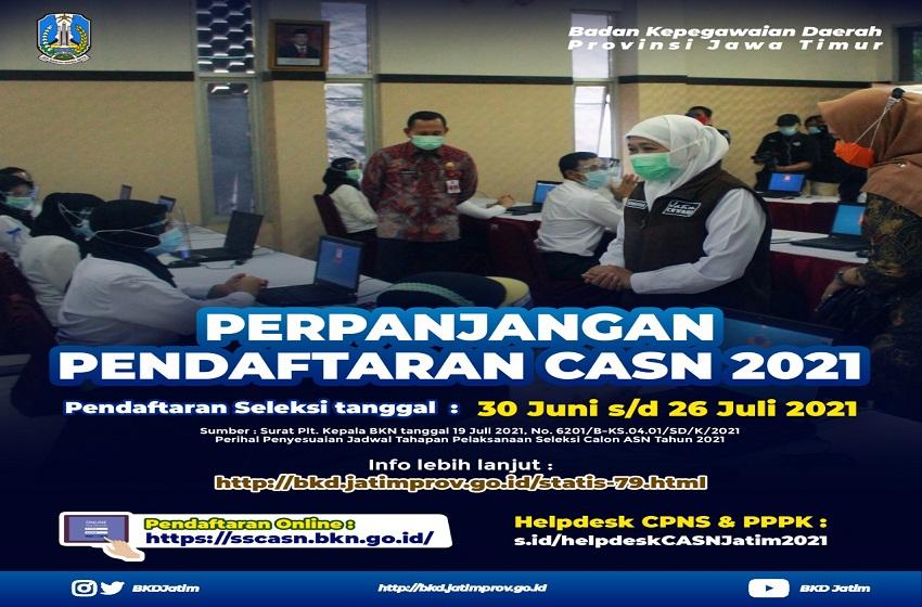 Pendaftaran CASN di Jatim Diperpanjang Sampai 26 Juli