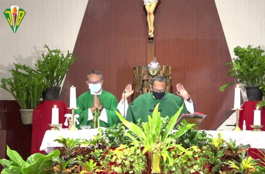 Misa Awali Pembukaan Tahun Ajaran Baru di SMA Kolese De Britto Yogyakarta