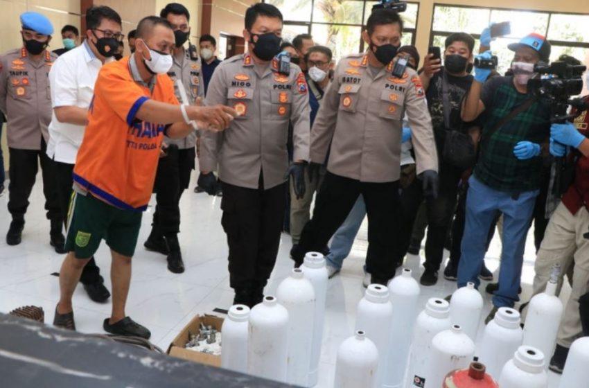 Polda Jatim Berhasil Bongkar Penjualan Tabung Oksigen Palsu