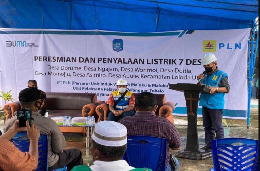 Tujuh Desa di Halmahera Utara, Kini Mempunyai Listrik