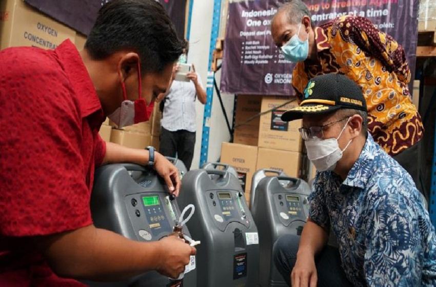 Pemerintah Dapat Bantuan 1500 Unit Oksigen Konsentrator
