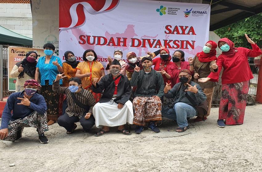 Harmoni Warna Indonesia dan Kagama Depok Gelar Vaksinasi Covid-19 Isi HUT RI Ke-76