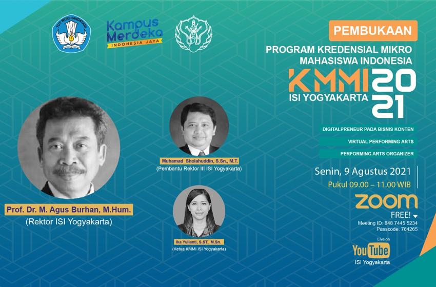 Tiga Kursus ISI Yogyakarta Lolos Program KMMI 2021