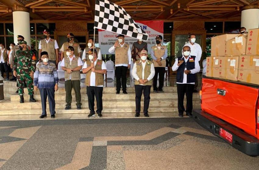 BNPB Menggelontor 1,5 Juta Masker untuk Pengendalian Covid-19 di Aceh