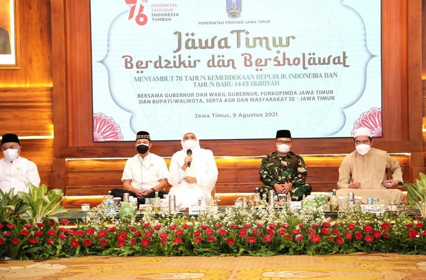 """Memperingati Tahun Baru Islam,  Gubernur Khofifah  Ajak Masyarakat Jawa Timur """"Move On"""""""