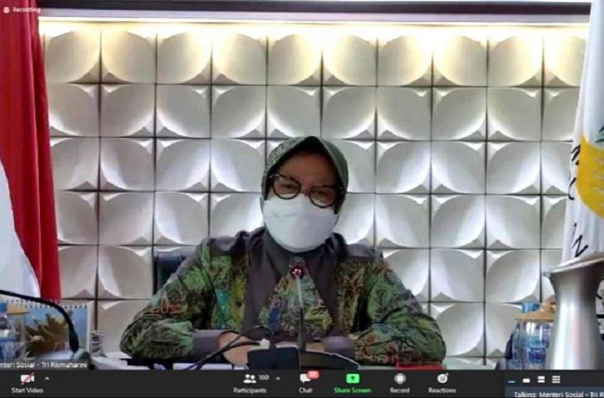 Mensos Paparkan Empat Strategi Penanganan Bantu Masyarakat Terdampak Pandemi