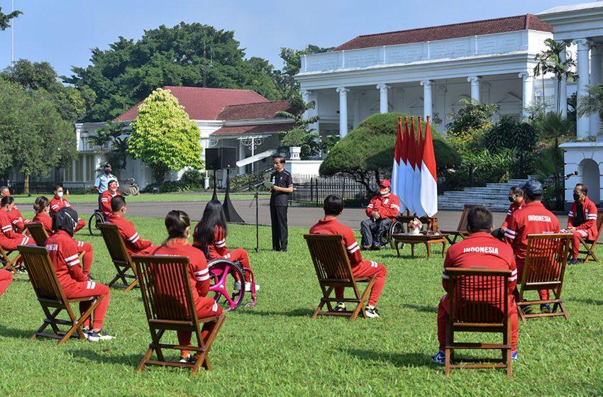 Atlet Indonesia Paralimpiade Tokyo Terima Bonus dari Presiden