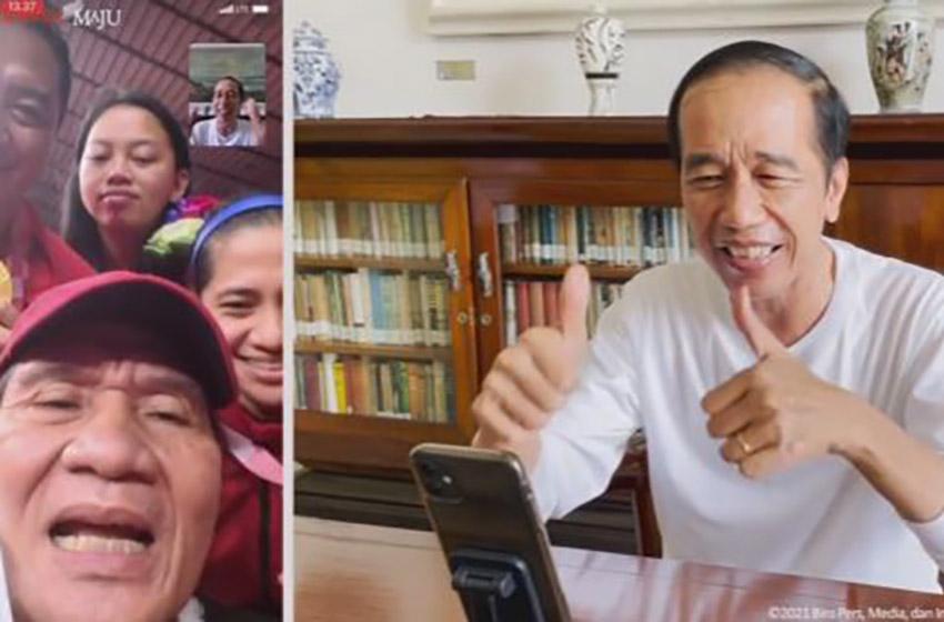Video Call Presiden Jokowi dengan Tim Paralimpiade: Luar Biasa, Saya Tunggu Semuanya di Istana