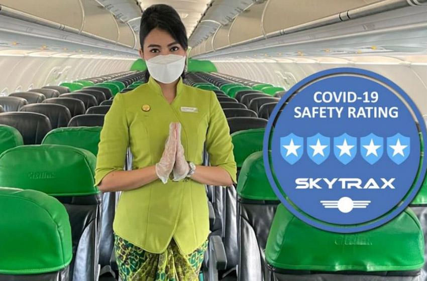 """Citilink sebagai LCC Kedua di Dunia yang Raih Predikat """"5-Star Covid-19 Airline Safety Rating"""" dari Skytrax"""