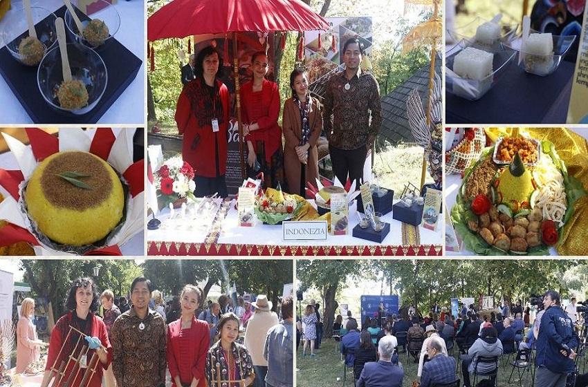 "Pulut Kuning Warnai Festival ""Missing Our Home Bread"" di Rumania"