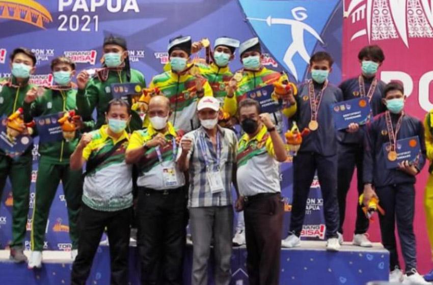 Boyong 10 Medali, Kontingen Riau Juara Umum Cabor Anggar PON XX Papua