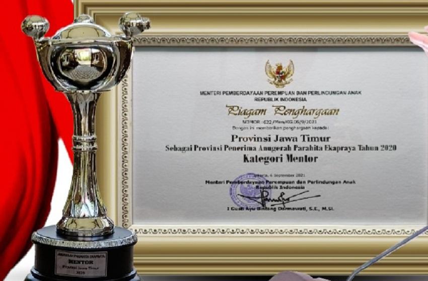 Pemprov Jatim Raih Anugerah Parahita Ekapraya 2021