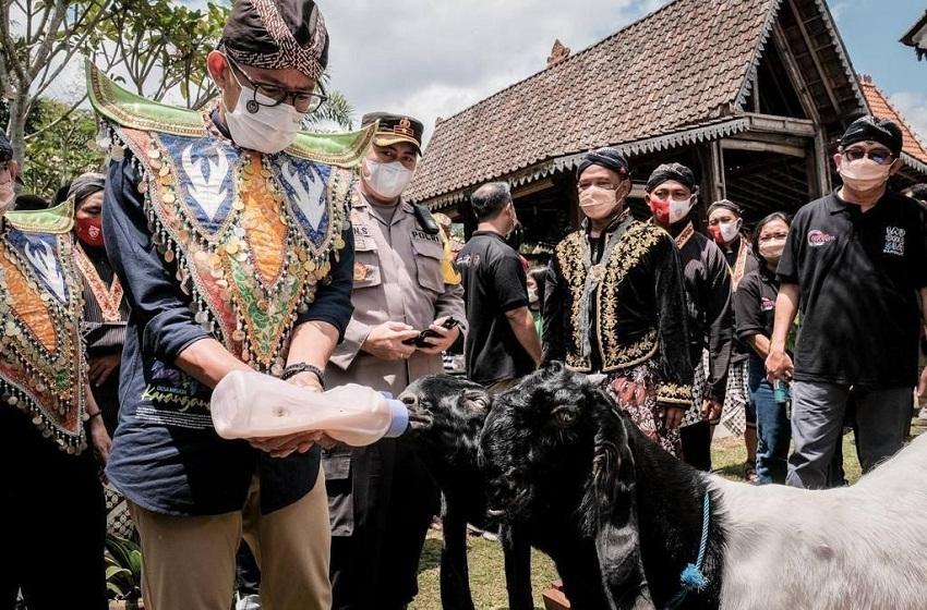 Menparekraf Jajal Atraksi Seru di Desa Wisata Karanganyar Magelang